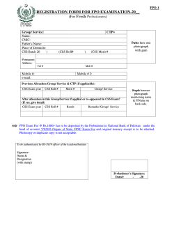 registration form for tration form for fpo examination ination-20