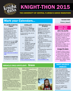 Knight-thon News - OSI - University of Central Florida