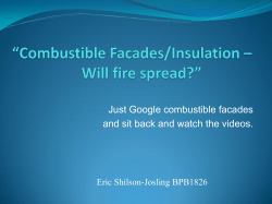 Combustible Insulation in Facades