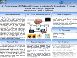 (EEG) Based Biometrics Investigation for Authentication