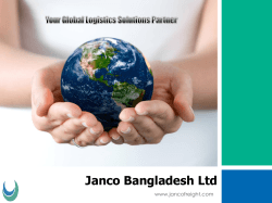 Janco Bangladesh Ltd 2014