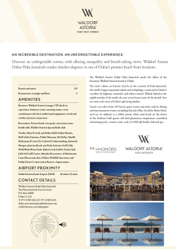 Download Fact Sheet - Waldorf Astoria Global Media Center
