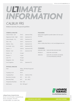 Calbux FRS Product Data Sheet