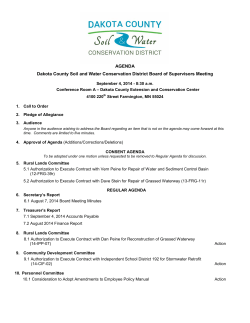AGENDA Dakota County Soil and Water Conservation District Board
