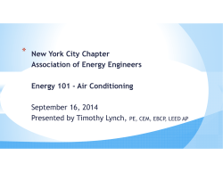 New York City Chapter Association of Energy Engineers Energy 101
