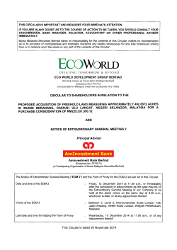 eco world development group berhad circular to