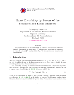 Exact Divisibility by Powers of the Fibonacci and Lucas Numbers