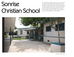 Sonrise Christian School FLS International is pleased to announce