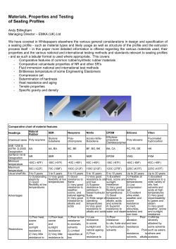 Materials, Properties and Testing of Sealing Profiles