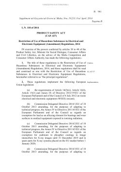 B 961 L.N. 118 of 2014 PRODUCT SAFETY ACT