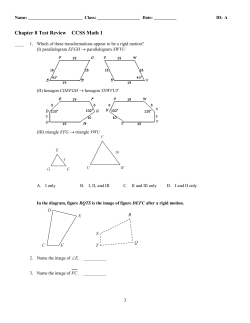 Chapter 8 Test Review CCSS Math 1