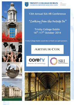 Conference Brochure - Trinity College Dublin