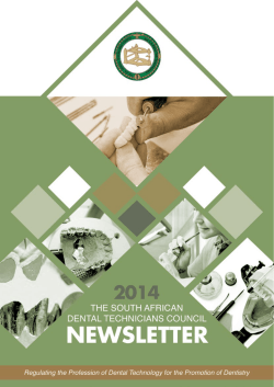 click to download - South African Dental Technicians Council