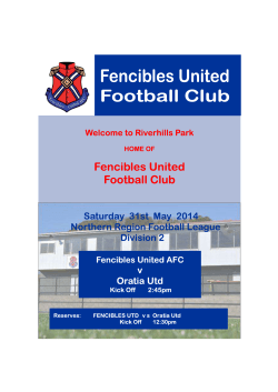 FUFC Programme - Oratia 2014 fixed up (Read-Only)