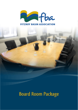 Board Room Package - Fitzroy Basin Association