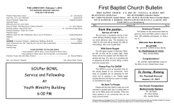 First Baptist Church Bulletin