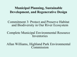 Allan Williams, Environmental Commissioners, Highland Park