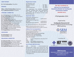 One day workshop on Advances in Geospatial