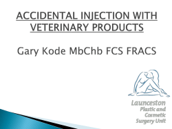 1. Kode - Accidental injection with veterinary products