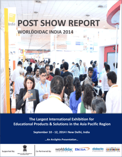 POST SHOW REPORT - World Didac India