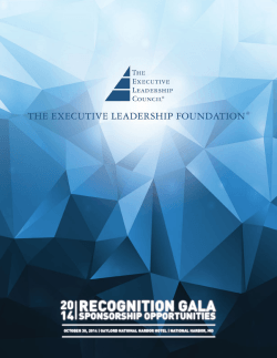 Annual Recognition Gala - Executive Leadership Council