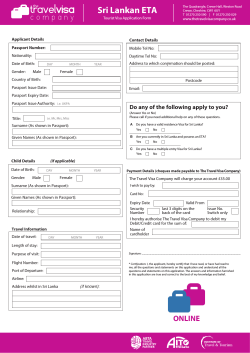 Download our Sri Lankan ETA Form here | PDF