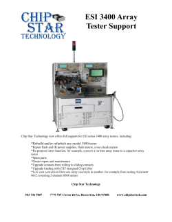 ESI 3400 Array Tester Support