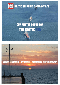 Our brochure - Baltic Shipping