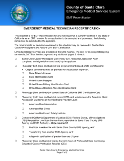 EMT Recertification Checklist