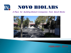 details - Novodiax, Inc. Homepage: Advancing diagnostics through