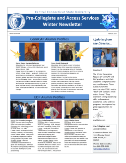 Pre-Collegiate and Access Services Winter Newsletter