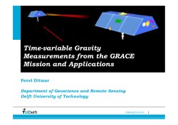 Time-variable Gravity Measurements from the GRACE Mission and