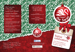 Download our Christmas menu