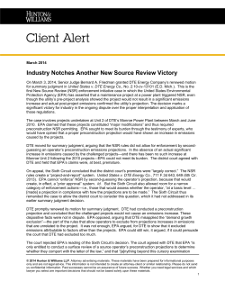 Industry Notches Another New Source Review Victory