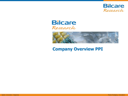 Company Overview PPI
