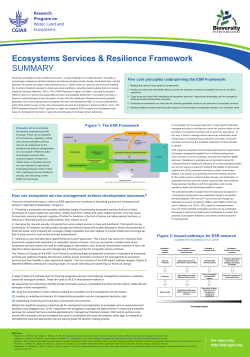 Ecosystem Services and Resilience Poster