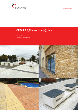 CEM I 52,5 N white | Quick