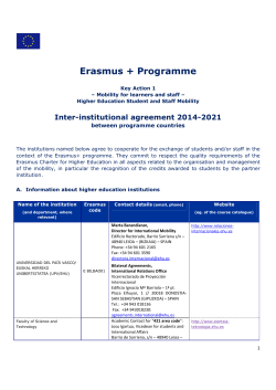 Erasmus + Programme - Universidade do Algarve