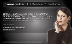 Emma Potter - UX Designer / Developer