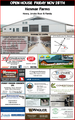 OPEN HOUSE FRIDAY NOV 28TH - ThermoEnergy Structures Inc.
