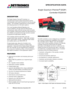 SPECIFICATION DATA Eagle Quantum Premier® (EQP) Controller