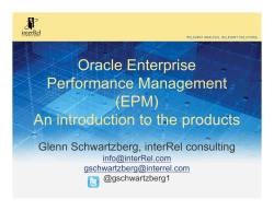 Oracle Enterprise Performance Management (EPM) An
