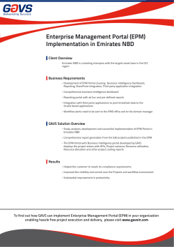 Enterprise Management Portal (EPM) Implementation in Emirates NBD