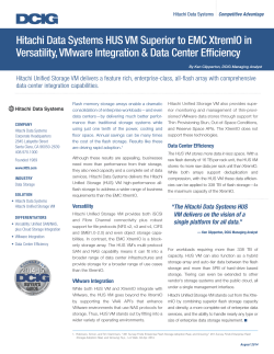 HUS VM Superior to EMC XtremIO in Versatility, VMware Integration