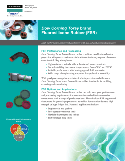 Dow Corning Toray brand Fluorosilicone Rubber (FSR) | Molding