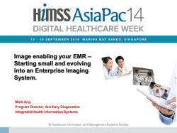 Image enabling your EMR – Starting small and