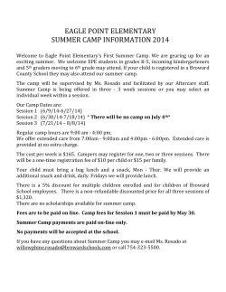 EPE Summer Camp Information