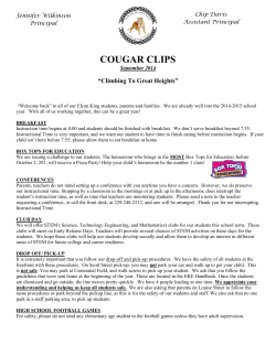 COUGAR CLIPS - Elcan-King Elementary School