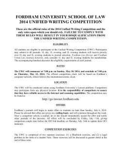 2014 Unified Writing Competition Rules