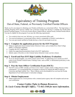 Equivalency of Training Info - St. Lucie County Sheriff Office